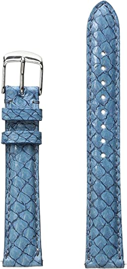 Michele - 16mm Seamist Fish Skin Strap Blue