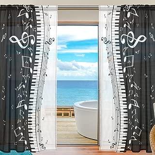 piano window curtains