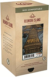 Reunion Island Privateer Dark Coffee Pods-3 Pack-48 Coffee Pods Total