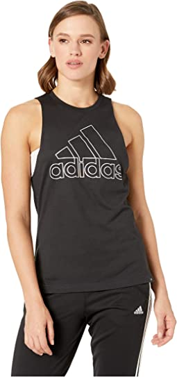 b709121590c4d3 8. adidas. Badge of Sport Iridescent Muscle Tank Top