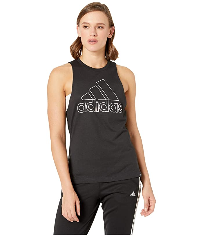 adidas Badge of Sport Iridescent Muscle Tank Top (Black) Women