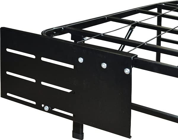 Boyd Sleep Raised Platform Bed Frame Accessory Universal Headboard Footboard Brackets Black Set Of 2