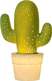 Lucide CACTUS - Lampe De Table - Ø 20 cm - Vert