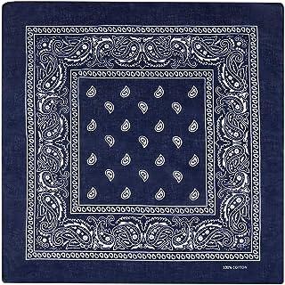 12pcs 100% Cotton Bandana Scarf, Supreme Paisley Print Cowboy-Style Bandana, Head Wrap Scarf for Men Women and Girls