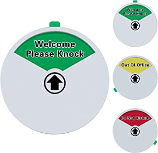 Meetory Privacy Sign-Do Not Disturb Sign, Out of Office Sign, Welcome Please Knock Sign for Offices, Home, Conference, 5.9 inch with Magnetic & Strong Adhesive Backing(15CM)
