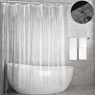 Feagar Clear Shower Curtain Liner, Waterproof 72x72 Inch, PVC Free Bathroom Curtain for Bathtub or Shower Stall