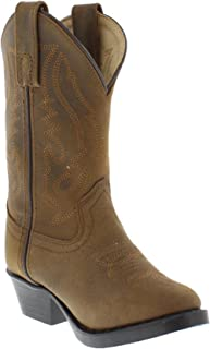 Kids Child Denver Leather Western Boot …