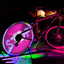 DIY 64 LED Programmable Pictures Bicycle Bike Spoke Tyre Wheel Lights New