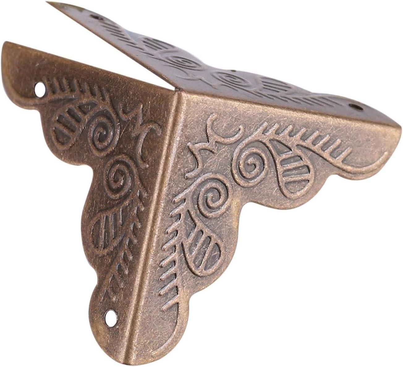 Akozon caja de regalo de joyer/ía de caja de madera protectores decorativos de esquina protector de cubierta de borde de hierro 12 piezas Plata Protector de esquina
