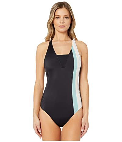 Roxy ROXY Fitness One?Piece Swimsuit (Anthracite) Women
