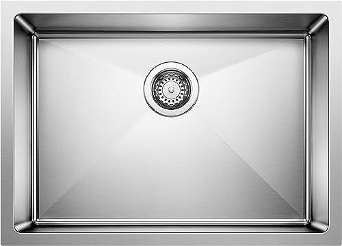 lowest BLANCO 519547 popular QUATRUS R15 Undermount Stainless Steel new arrival Kitchen Sink, Medium online sale