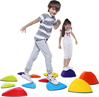 Special Supplies 12 Stepping Stones for Kids Indoor and Outdoor Balance Blocks Promote Coordination, Balance, Strength Chi...