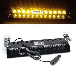 Wecade 12w 12 Leds Car Truck Emergency Strobe Flash Light Windshield Warning Light (Amber)