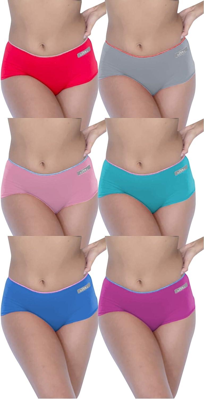 Sexy Basics Womens 6 Pack Grab Bag Cotton Spandex Boyshort Active Briefs at  Women's Clothing store