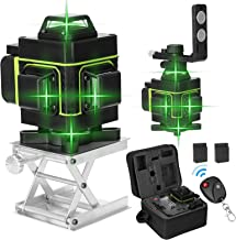 Romacci Visor LCD multifuncional de 16 linhas Ferramenta de nível de laser Linha vertical horizontal 3 ° Autonivelante com...