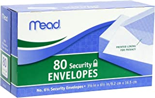 Mead #6 3/4 Security Envelopes, 80 Count (75212), Pack Of 2,White