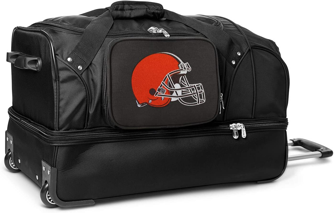 Max 87% OFF Limited time cheap sale NFL Drop Bottom Luggage Rolling Duffel