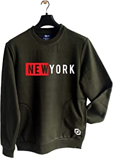 KIPA Men's and Boy's Full Sleeve Newyork Winter Wear Fleece Sweatshirt