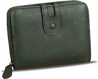 Genuine Leather Small Purse Wallet for Women RFID-Blocking Handmade Clutch Wallets Money Clip Card Case Organizer Coin Pou...