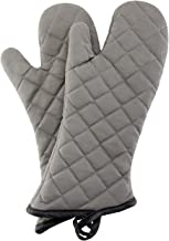 Oven Mitts 1 Pair of Quilted Cotton Lining – Heat Resistant Kitchen Gloves