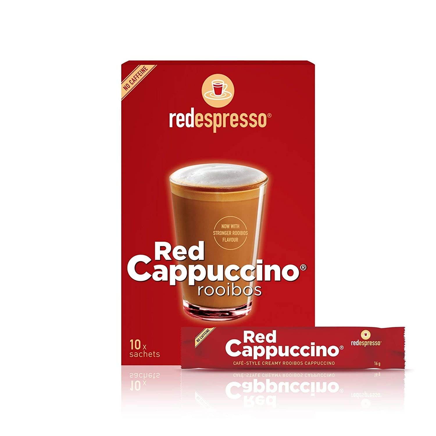Red Easy-to-use Rooibos Tea Cappuccino Mix GMO Organic NEW before selling - Non Espresso