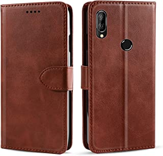 LeiJun Case for Oukitel C16 Pro,PU Leather Folio Flip Cover [Kickstand Feature] [Inner Card Slot] Wallet Shell Compatible with Oukitel C16 Pro - Brown