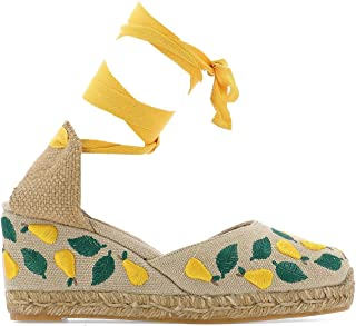 CASTANER Women's 0211804060NATURALAMAR Multicolor Other Materials Wedges