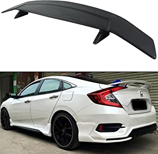 Cuztom Tuning Fits for 2016-2019 Honda Civic X 10TH Gen RS Si Style Rear Trunk Spoiler Wing W/LED Brake