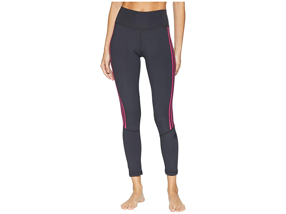 adidas Believe This High-Rise 3-Stripes 7/8 Tights (Carbon/Real Magenta) Women