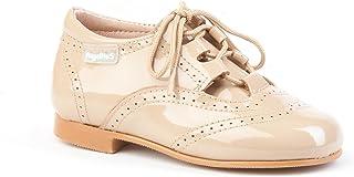 Zapatos Inglesitos Charol para Niños Todo Piel mod.1505. Calzado Infantil Made in Spain, Garantia de Calidad.