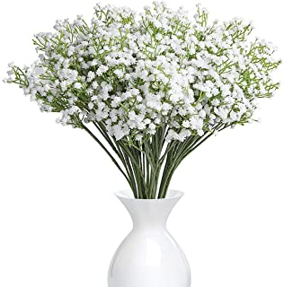 YSBER 10Pcs Baby Breath/Gypsophila Artificial Fake Silk Plants Wedding Party Decoration Real Touch Flowers DIY Home Garden...