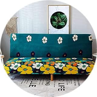Secret-shop Spandex Sofa Bed Cover Stretch No armrests Tight Wrap Sofa Cover for Living Room Soft Slipcovers Elastic Couch Cover cubre Sofa,Color 3,160-190cm