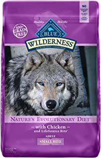 Blue Buffalo Wilderness High Protein Grain Free, Natural Adult Small-Bite Dry Dog Food