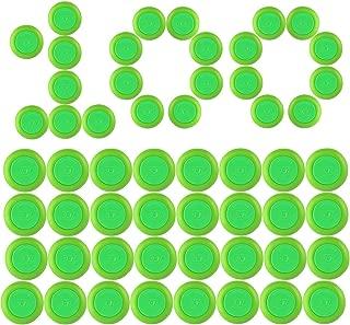 Disc Refill, Yamix 100-Dart Refills Disc Bullets for nerf vortex blaster praxis nitron vigilon proton ammo discs - Green