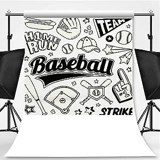 Baseball Doodles Theme Backdrop Backdrop Background for Photography,149619,8.2x8.2ft