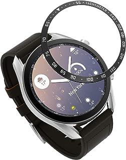 MoKo Bezel ring kompatibel med Galaxy watch 3 41 mm, Smartwatch infattning ring självhäftande dämpning reptålig skyddande ...
