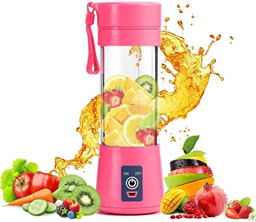 Piyuda 6 Blades USB Juicer Portable Blender Electric Vegetables Fruit Smoothie Squeezers Mixer for Home Travel Cup Multicolor