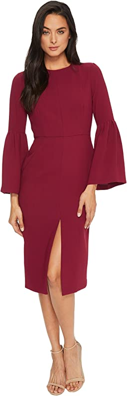 JILL JILL STUART - Bell-Sleeve Tea-Length Dress