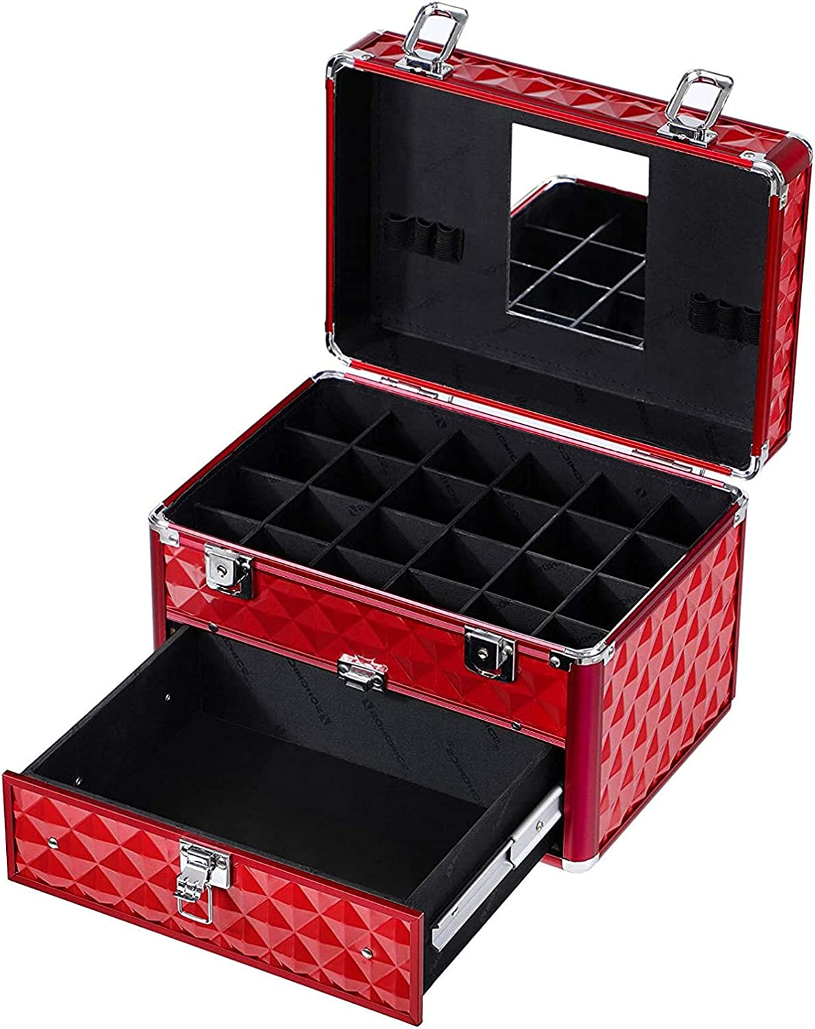 TZhiJian with 24 Popular Compartments Baltimore Mall Storage Organizer Red Drawer and 1