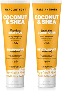 Marc Anthony Hydrating Coconut Oil & Shea Butter Shampoo and Conditioner Set – Biotin & Keratin Shampoo Conditioner Bundle...