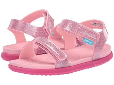 Native Kids Shoes Charley Glitter (Little Kid) (Princess Pink Glitter/Princess Pink/Hollywood Pink) Girls Shoes