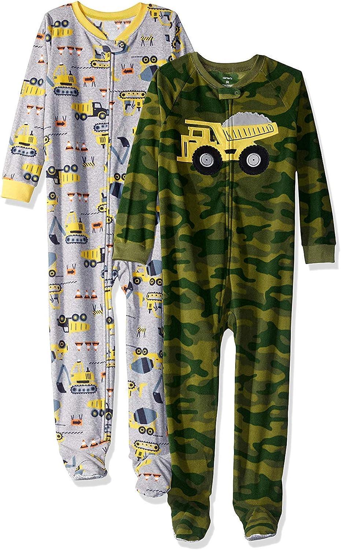 Carter's Baby Boys' Toddler 2-Pack Fleece Pajamas