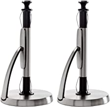 OXO Good Grips SimplyTear Standing Paper Towel Holder, Brushed Stainless Steel (2 Pack)