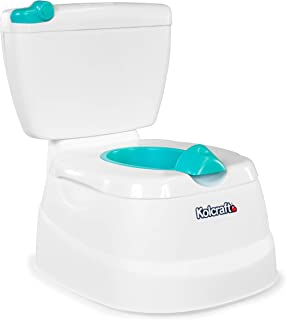 Kolcraft My Mini Potty Children's 2-in-1 Potty Trainer for Boys and Girls, Potty Chair and Toilet Trainer All in One, Spla...