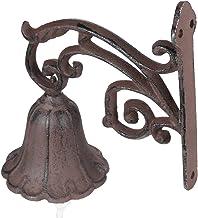 Gietijzeren Deurbel 1 set Bruin Bloem Tak Ijzeren Deurring Bell Antieke Wandmontage W/schroefHeeft Geboorde Gaten voor Wan...