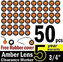 TMH 3/4-Inch Mount Amber LED Trailer Marker Lights, Pack of 50