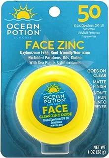 Ocean Potion Protect & Nourish Face Potion Clear Zinc SPF 50 1oz ( 2 Pack )