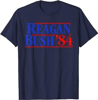 Vintage Reagan Bush 84 Political Anti Trump Tee Shirt