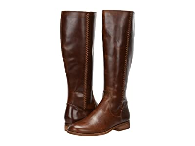 FRYE AND CO. Jolie Whip Tall (Cognac Vintage Pull Up Leather) Women