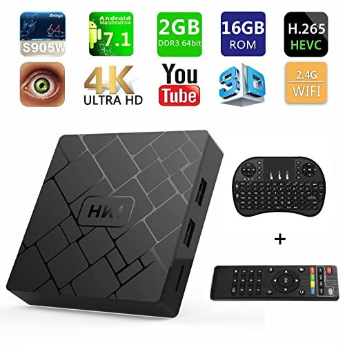 [Free Wireless Keyboard] 2018 J-DEAL 4K 7.1 Android TV Box, 2GB